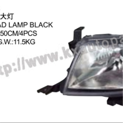 TOYOTA HILUX VIGO 2012 HEAD LAMP BLACK