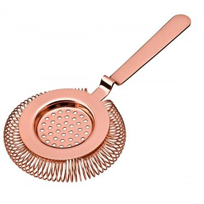 ST006-02 Stainless Steel Barware Tea Strainer Ice Cocktail Strainer Bar Tools with Copper Plated