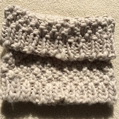 Pure Handmade Crochet Cool Gray Infinity Neck Warmer Winter