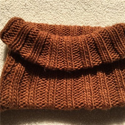 Infinity Knit Scarves In Chocolate Brown