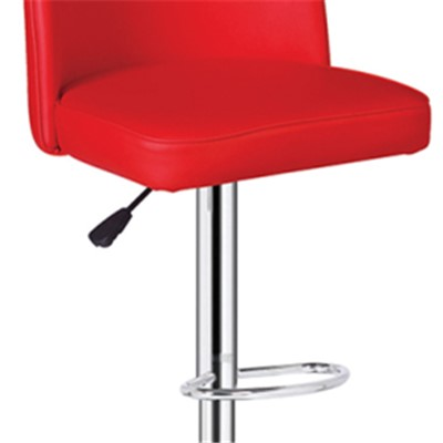 Swivel Red High Back Bar Chair