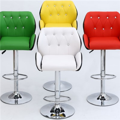 Swivel Leisure Leather Bar Chair