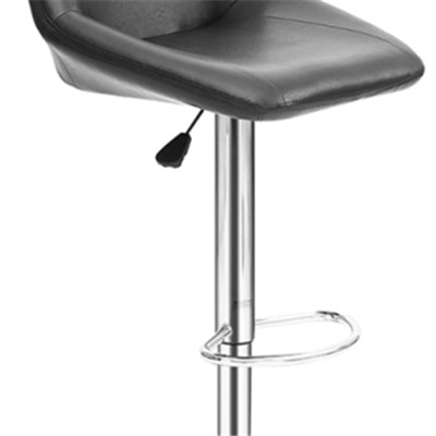 High Seat Adjustable Leather Bar Chair