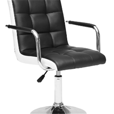 Leather Bar Stool With Armrest