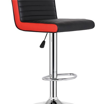 Black And Red Leather Bar Chair