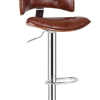 Brown Vintage Wooden Bar Stool