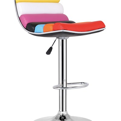 Colorful Leather Bar Stool
