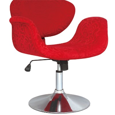 Red Fabric Bar Stool