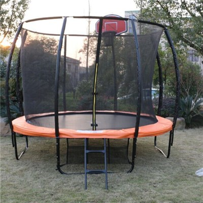 14FT New Trampoline With Basketball Hoop For Sale
