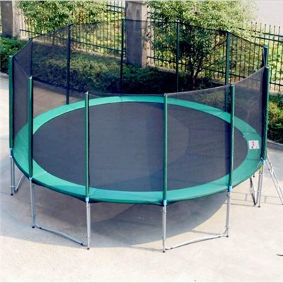 16FT Family Gardon Amuement Round Spring Trampoline With Net Outside (6 Leg - 12 Pole)