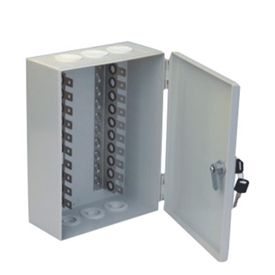 100 Pair Indoor Distribution Box Install 10 Pair Back Mount Frame