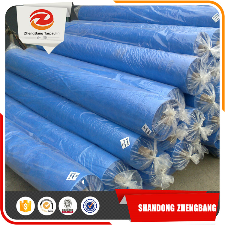 Cheap China PE tarpaulin Roll | Blue PE tarpaulin in Rolls