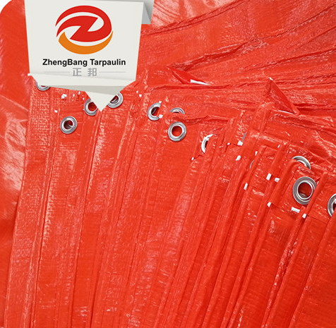 Blue/orange/white PE waterproof tarpaulin sheet China