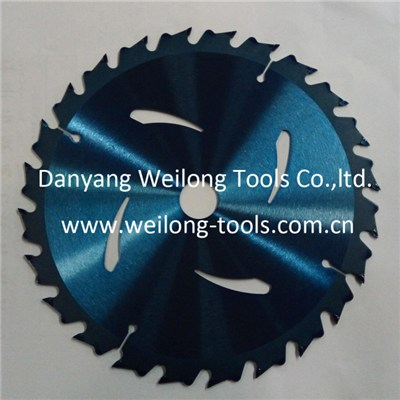 7-1/4 184mm 24T Rip Cut Saw Blade With Transparent Blue Coating