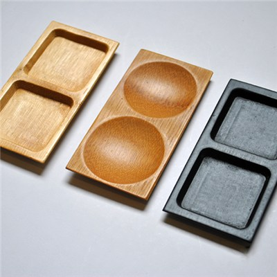 Bamboo Plate Two Compartment
