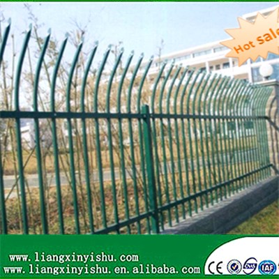 2rail Galvanized Community Steel Fence