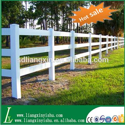 Hot Sale 3rail Pvc Horse Fence
