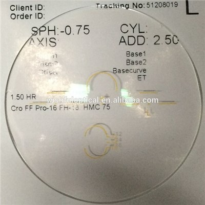 Cr39 Freeform Progressive Lens