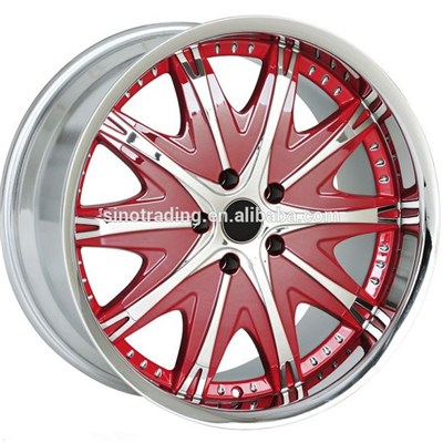 RED Car Chrome Wheel Rims Forged Aluminum
