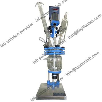 Laboratory Three Layer Glass Reactor