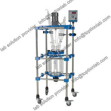 Jacketed Pilot Glass Reactor