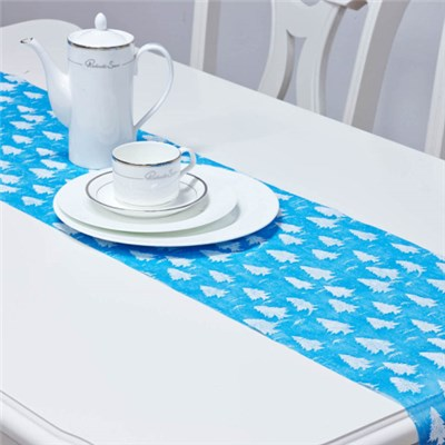 Nonwoven Foamed Glittered Table Runner
