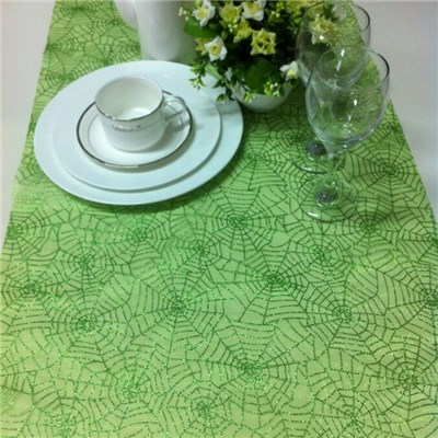 Green Glittered Table Runner
