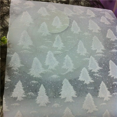 Table Runner With Christmas Trees