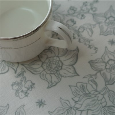 Flower Printed Cotton Table Runner