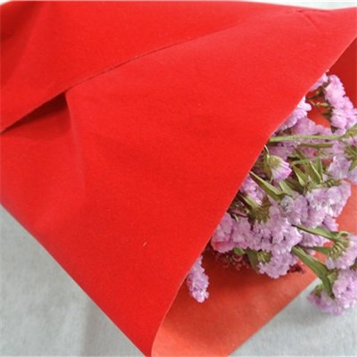 Red Flocked Nonwoven Sheet