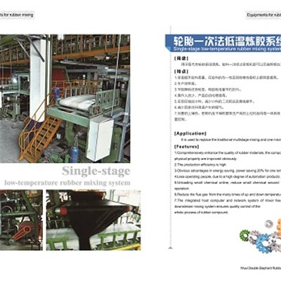 Single-stage Low-temperature Rubber Mixing System