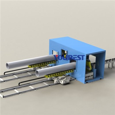 Movable Container Pipe Cutting & Beveling Preparation Work Station