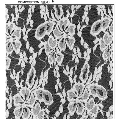 120cm Floral Design Lace Fabric (R542)