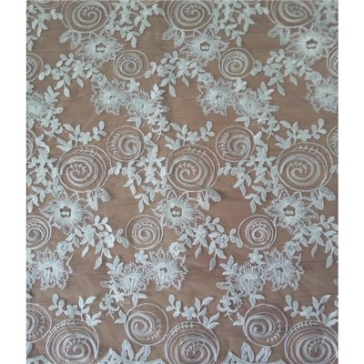 W9020 Embroidery Bridal Dresses Lace Fabric (W9020)