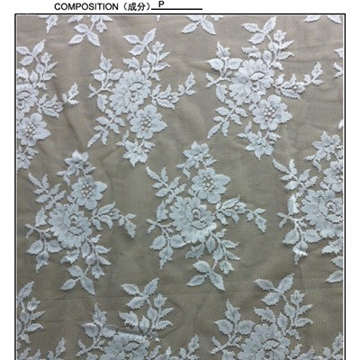 White Lace Fabric For Wedding Dresses (W5334)