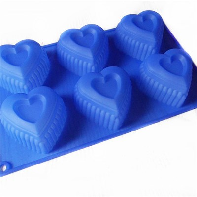 Heart Shaped Silicone Soap Mold