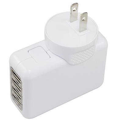 4 Ports USB Charger US Plug