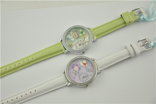 new design beautiful lady leather watch