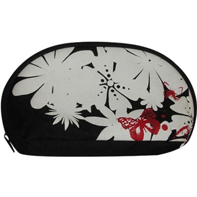 Flower Imprint Cosmetic Bag