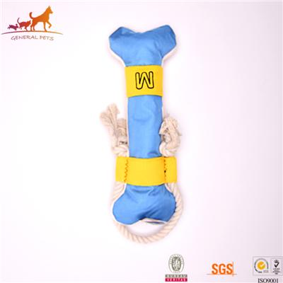 Plush Dog Tug Toy Bone Shape