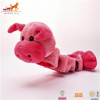 Tug Squeaky Dog Toy Pig
