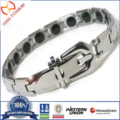 Hot Sale Trendy Titanium Magnetic Power Energy Balance Bracelet