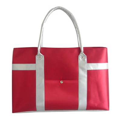 Satin Bag With Side Pocket Beach Tote Bag