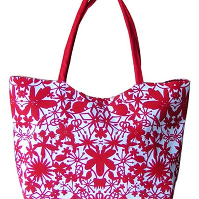 Chinese Paper Cutting Printed Beach Bag Tote Bag