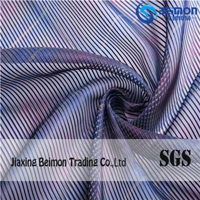 10S Stereoscopic Stripes Organza Fabric For Printed
