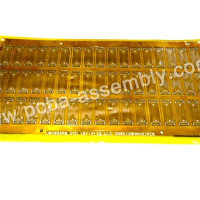 Single And Double Sided Polyimide 0.1mm Flexible PCB