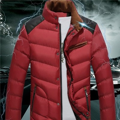 Men Of New Fund Of 2015 Autumn Winters With Thick Cotton-padded Jacket, Korean Men Down Cotton-padded Jacket Coat Pure Color Coat Big Yards,