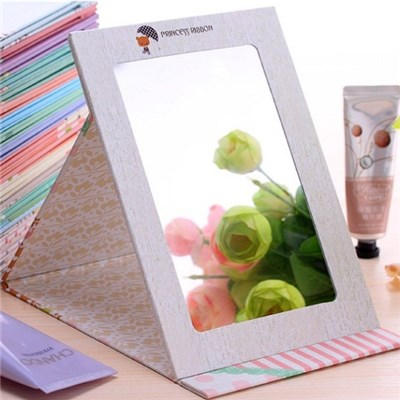 2015 Creative South Korea Desktop Folding Cosmetic Mirror Mirror Big Toilet Glass Portable Lovely Fashion With A Small Mirror