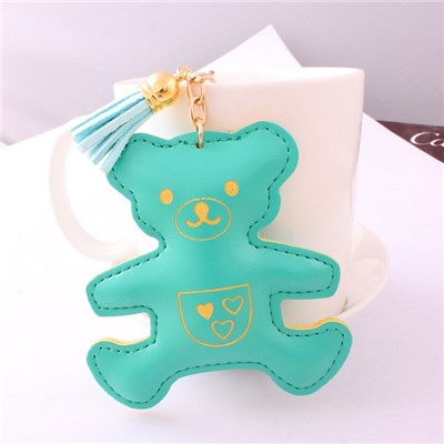 2015 Creative Pu Leather Cartoon Bear Keychains Car Key Chain Pendant Bags Hang Adorn,Welcome To Sample Custom