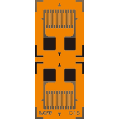 Dual-grid Linear Pattern Strain Gauge GB-C